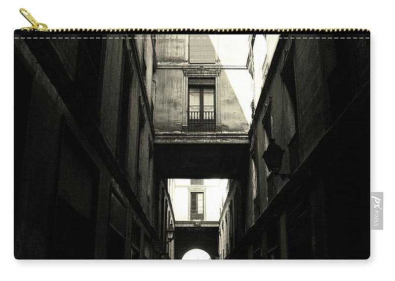 Arch Carry-all Pouch featuring the photograph Street In Barcelona by Maria Fernandez