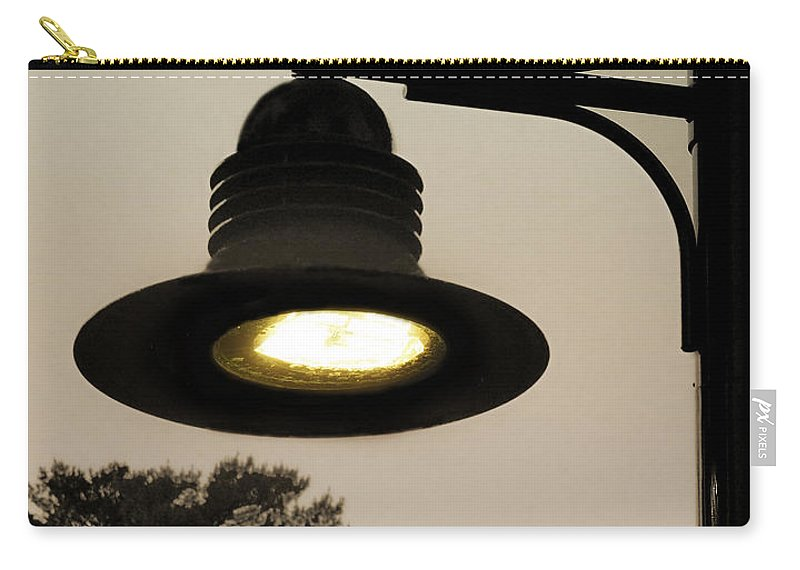 Lamp Carry-all Pouch featuring the photograph Street Lamp by Raymond Earley