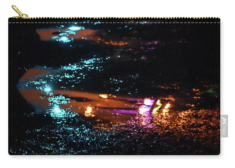 Lights Carry-all Pouch featuring the photograph Street Magic by Ashleena Valene Taylor