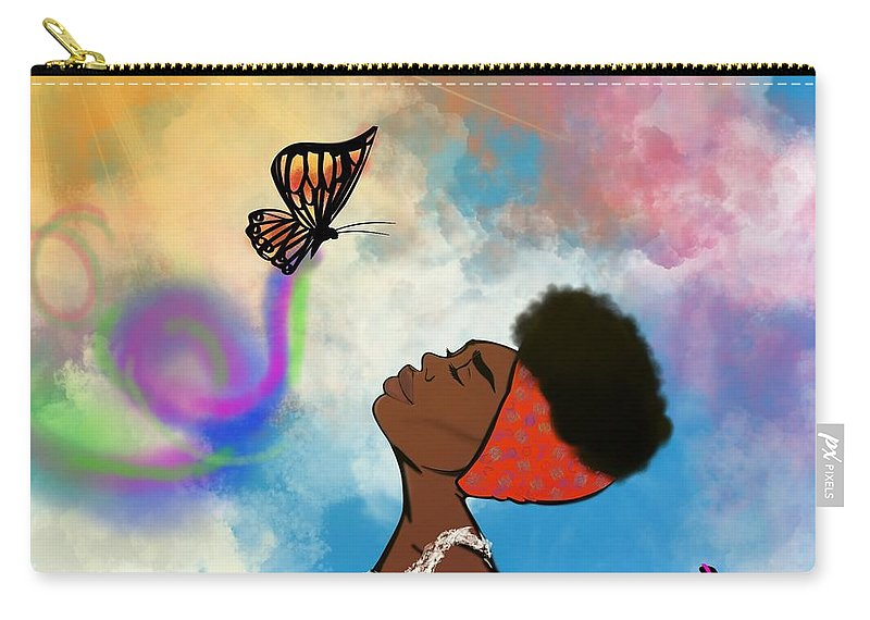Baptism Carry-all Pouch featuring the painting Strip off the old personality by Artist RiA