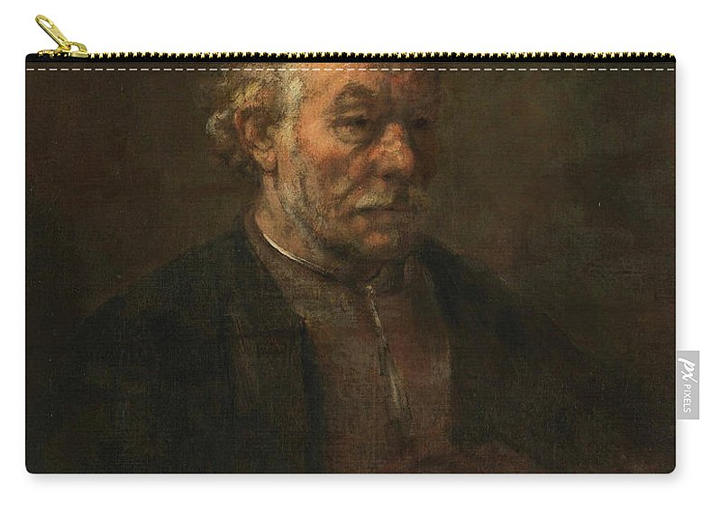 Rembrandt Van Rijn Carry-all Pouch featuring the painting Study Of An Old Man by Rembrandt van Rijn