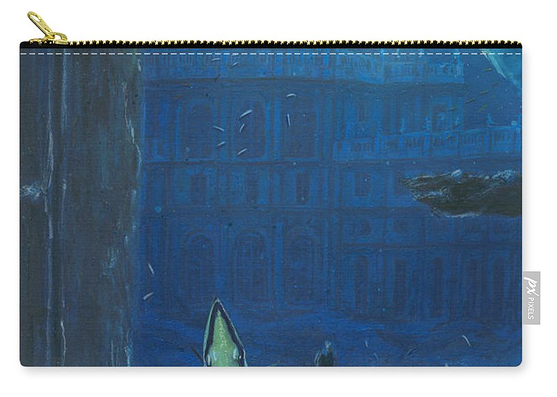 Italy Carry-all Pouch featuring the digital art Stupinigi Window Fish Glass by Andrea Gatti