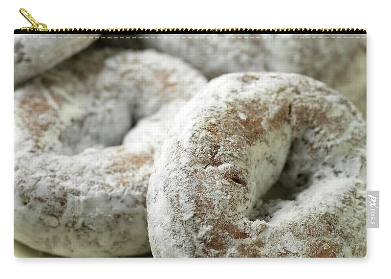 Unhealthy Eating Carry-all Pouch featuring the photograph Sugar Doughnuts by Brian Yarvin