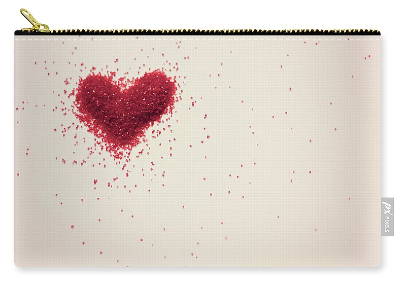 Art Carry-all Pouch featuring the photograph Sugar Heart by Amy Weekley