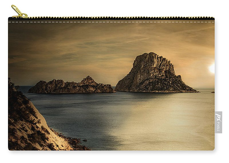 Ibiza Spain Landscape Sea Summer Sun Carry-all Pouch featuring the photograph Summer In Ibiza by Vincenzo Romano