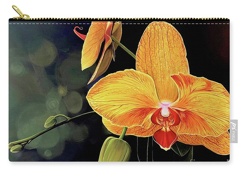 Floral Carry-all Pouch featuring the painting Summer Night by Hunter Jay