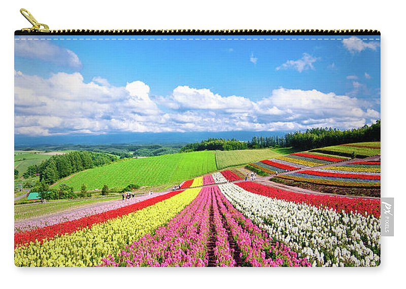 Tranquility Carry-all Pouch featuring the photograph Summer Of Furano by Grace's Photo