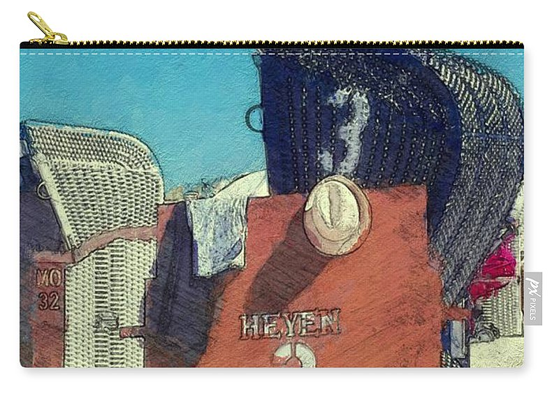 Beach Carry-all Pouch featuring the painting Summertime by Steve K