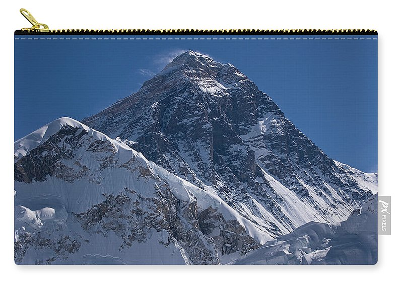 Scenics Carry-all Pouch featuring the photograph Summit Of Mt Everest8850m Great Details by Diamirstudio