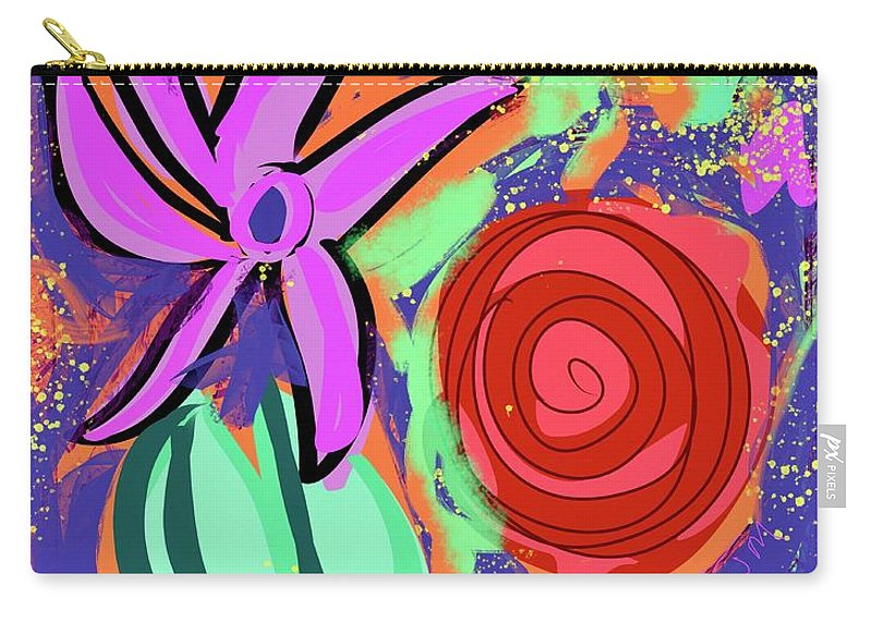 Digital Carry-all Pouch featuring the digital art Sunday Morning by Mary Jane Mulholland