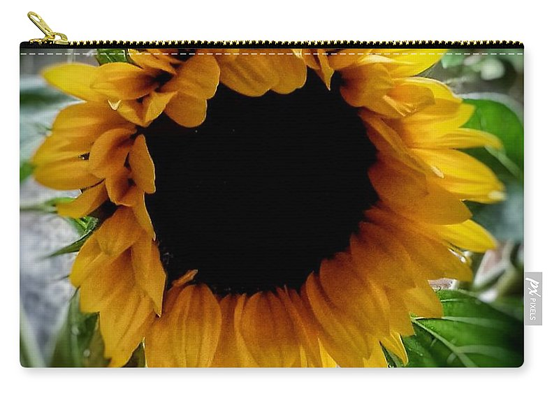 Sunflowers Carry-all Pouch featuring the photograph Sunflower 2 by Joan-Violet Stretch