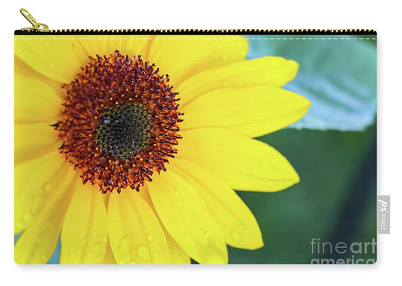 Sunflower Carry-all Pouch featuring the photograph Sunflower- Shine On Me by Missie Mellen