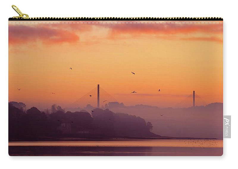 Scenics Carry-all Pouch featuring the photograph Sunrise by All Images Taken By Keven Law Of London, England.