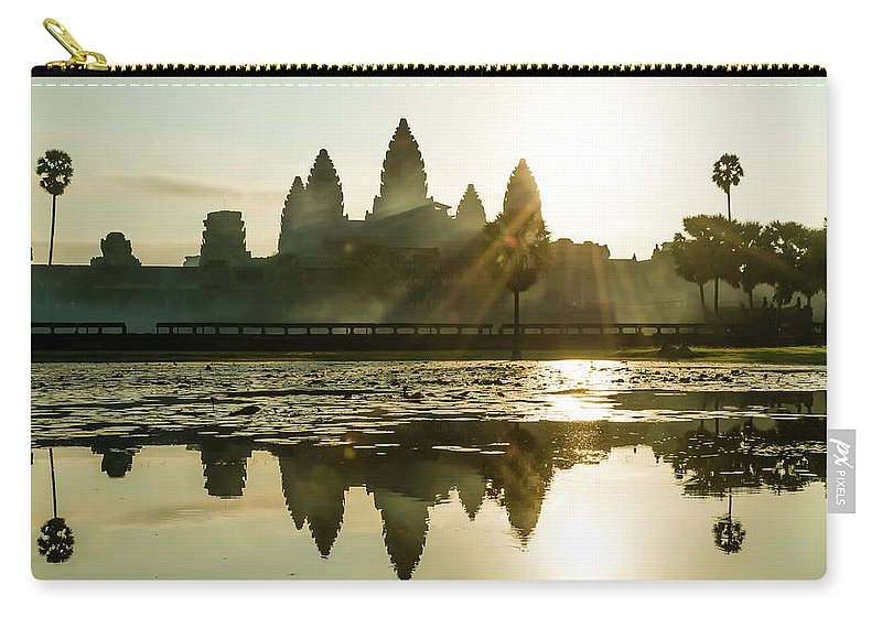 Tranquility Carry-all Pouch featuring the photograph Sunrise At Angkor Wat by Matt Davies Noseyfly@yahoo.com