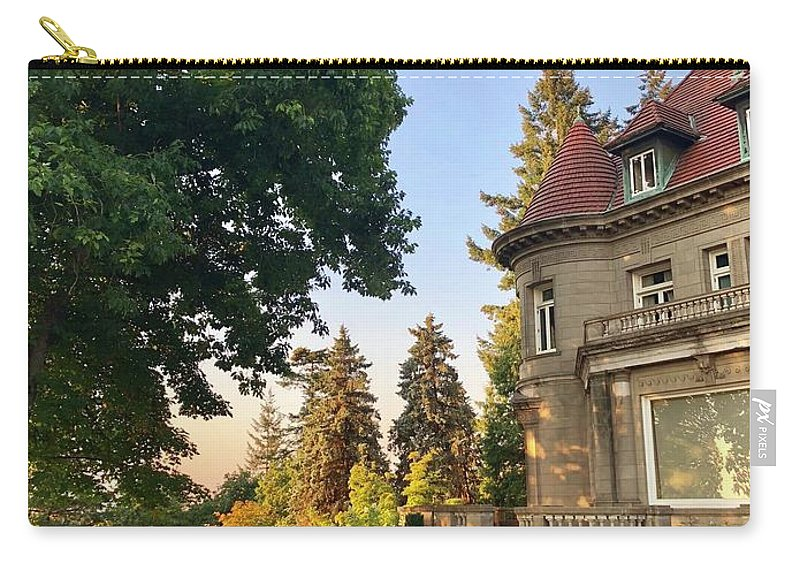 Pittock Mansion Carry-all Pouch featuring the photograph Sunrise At The Mansion by Sorelladrina LLC