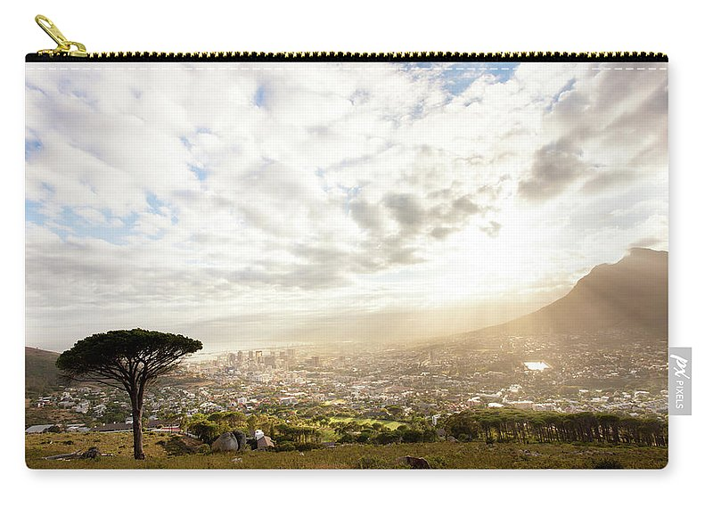 Scenics Carry-all Pouch featuring the photograph Sunrise Over Cape Town South Africa by Epicurean