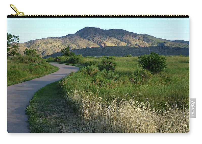 Outdoors Carry-all Pouch featuring the photograph Sunrise Over State Park Grasslands And by Milehightraveler