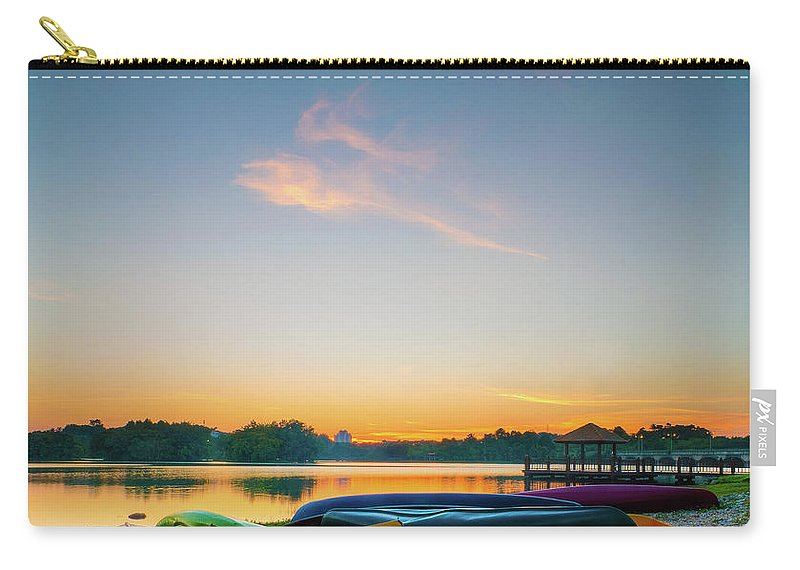 Tranquility Carry-all Pouch featuring the photograph Sunset At Kayak Putrajaya Lake by Muhammad Hafiz Bin Muhamad