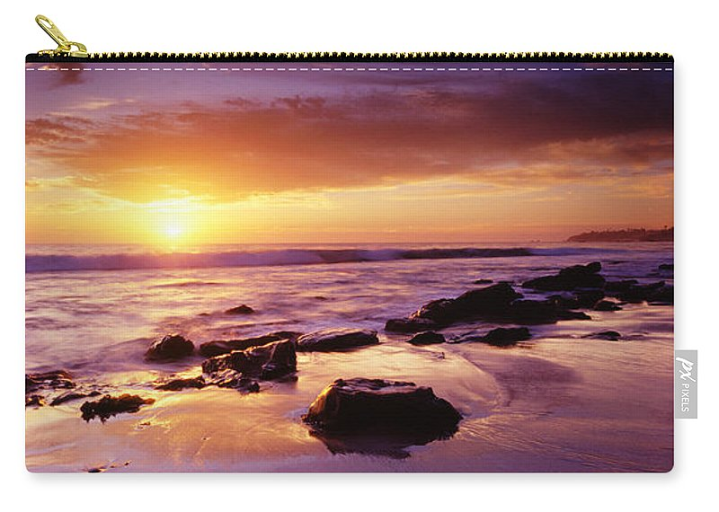 Scenics Carry-all Pouch featuring the photograph Sunset At Laguna Beach by Jason v