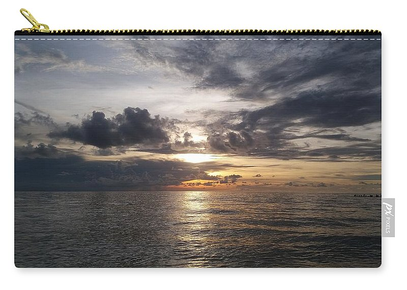 Sunset Carry-all Pouch featuring the photograph Sunset by Cora Jean Jugan