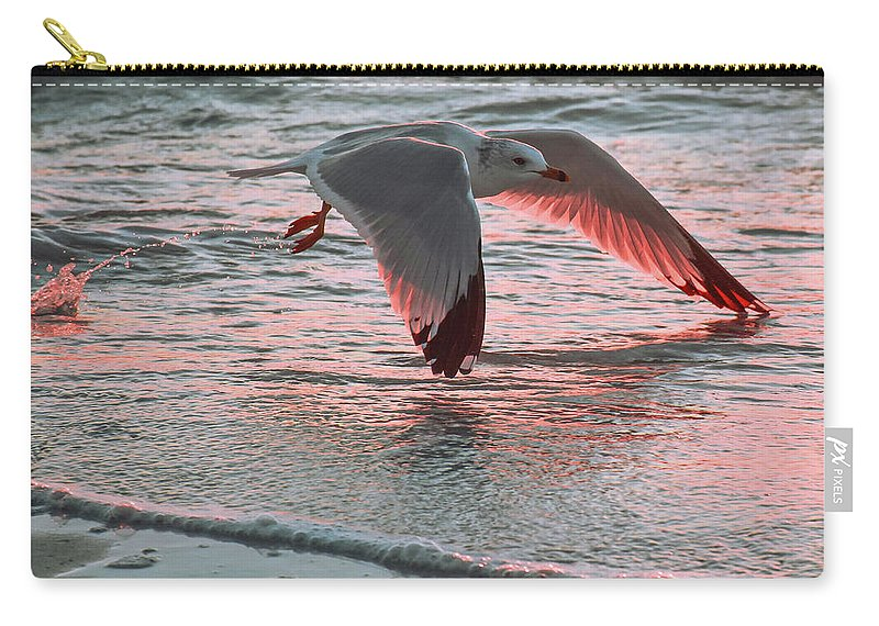 Sunset Carry-all Pouch featuring the photograph Sunset Glide by Ashleena Valene Taylor