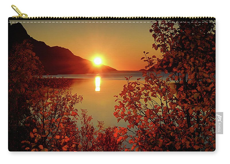 Tranquility Carry-all Pouch featuring the photograph Sunset In Ersfjordbotn by John Hemmingsen
