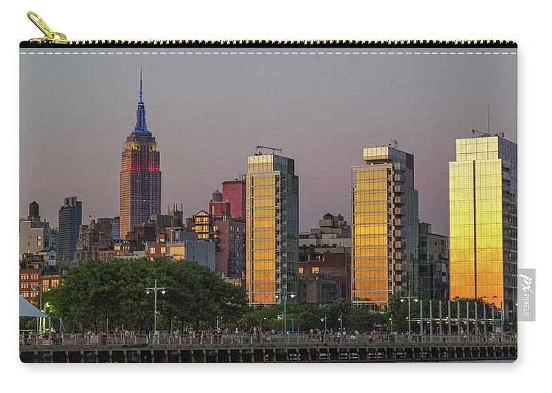 New Carry-all Pouch featuring the photograph Sunset In The City by Betsy Knapp