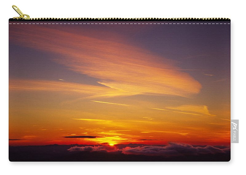 The End Carry-all Pouch featuring the photograph Sunset Near Taos, New Mexico, Usa by Diane Miller