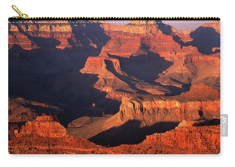 Toughness Carry-all Pouch featuring the photograph Sunset Over Grand Canyon by By Tiina Gill