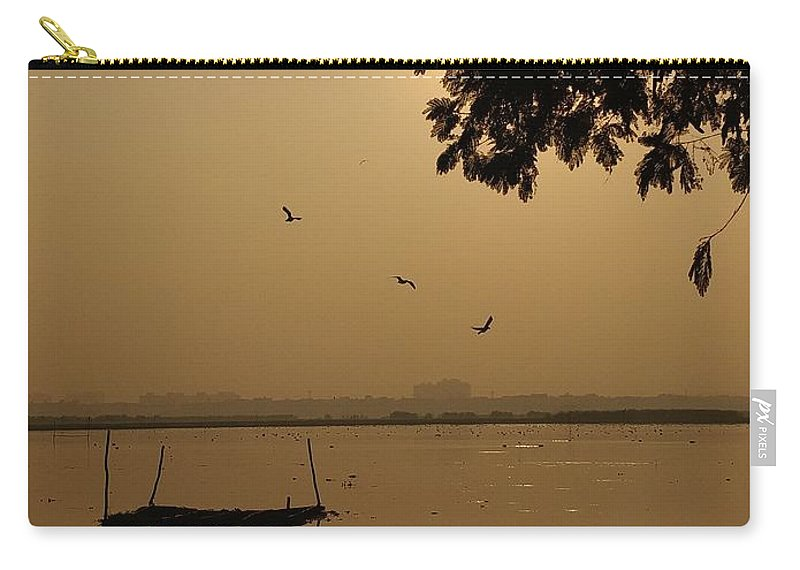Sunset Carry-all Pouch featuring the photograph Sunset by Priya Hazra