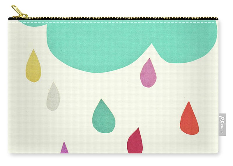Clouds Carry-all Pouch featuring the mixed media Sunshine and Showers by Cassia Beck