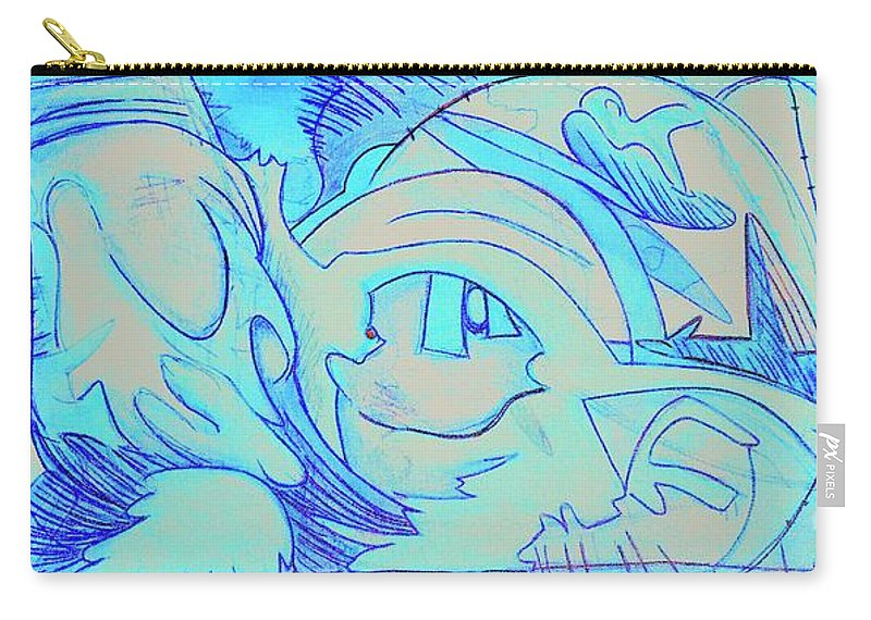 Carry-all Pouch featuring the painting Surfing The Sun Dial 2 by Judy Henninger