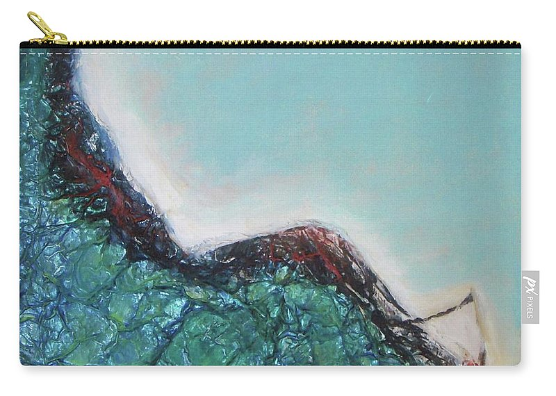 Surf Carry-all Pouch featuring the painting Surfing by Vesna Antic