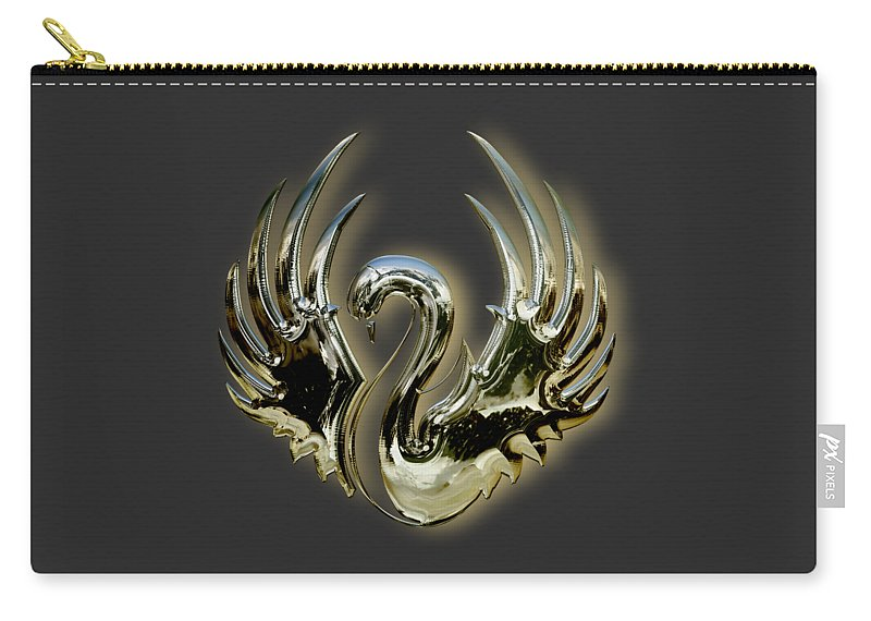 Swan Carry-all Pouch featuring the mixed media Swan by Marvin Blaine
