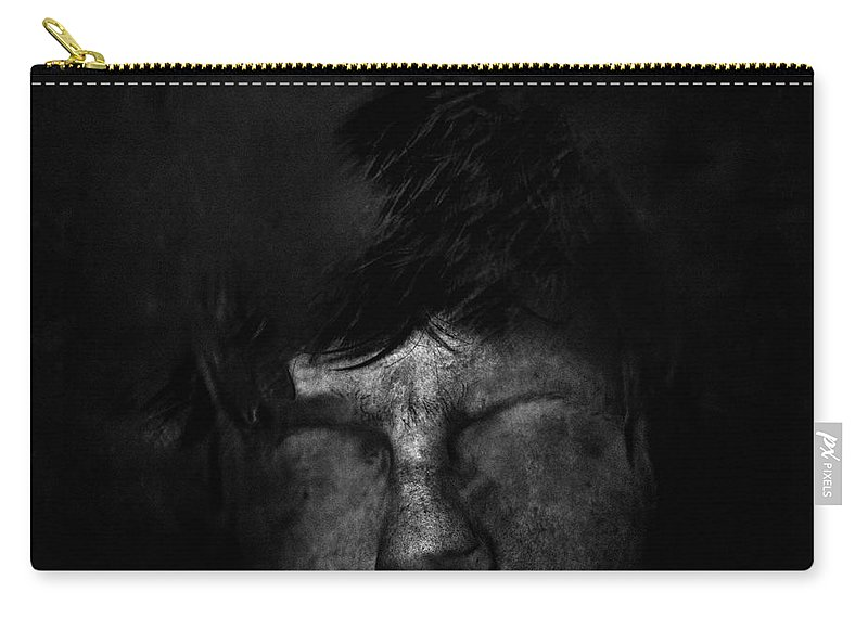 People Carry-all Pouch featuring the photograph Sweden, Stockholm, Distorted Face by Win-initiative