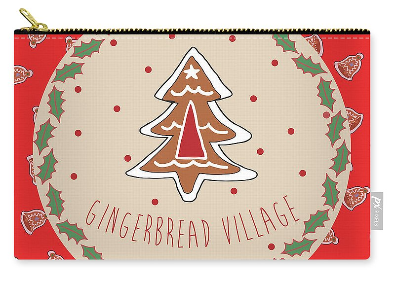 Sweet Carry-all Pouch featuring the mixed media Sweet Christmas IIi by Nicholas Biscardi