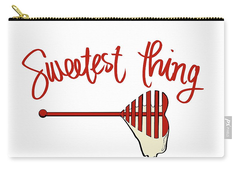 Sweetest Carry-all Pouch featuring the mixed media Sweetest Thing by Sd Graphics Studio