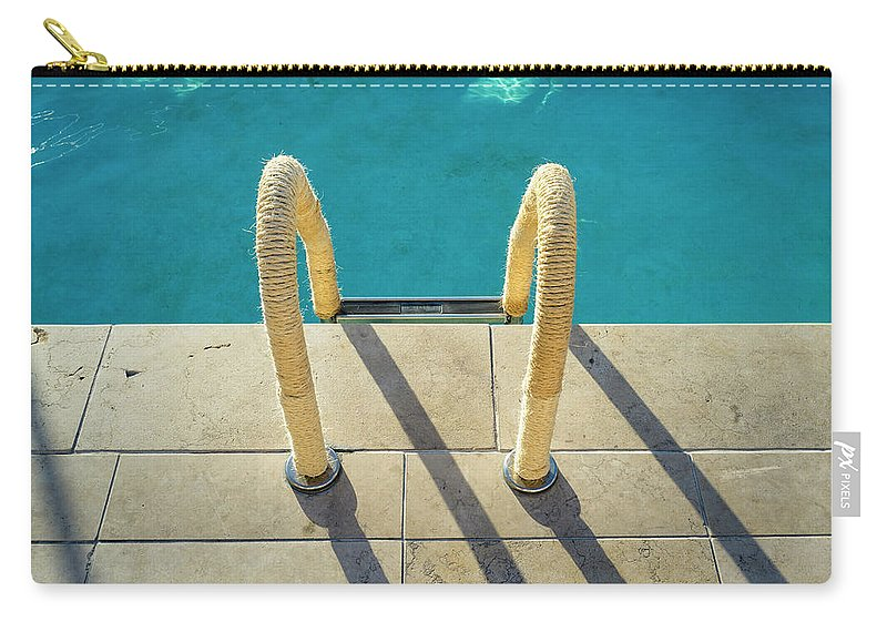 California Carry-all Pouch featuring the photograph Swimming Pool Ladder, Los Angeles by Alvis Upitis