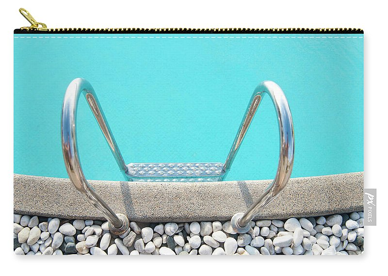 Tranquility Carry-all Pouch featuring the photograph Swimming Pool With White Pebbles by Lawren