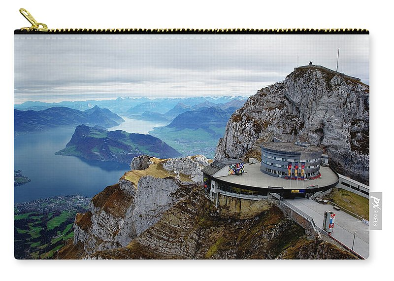 Outdoors Carry-all Pouch featuring the photograph Switzerland, Lucerne, Lake Lucerne by Adam Jones