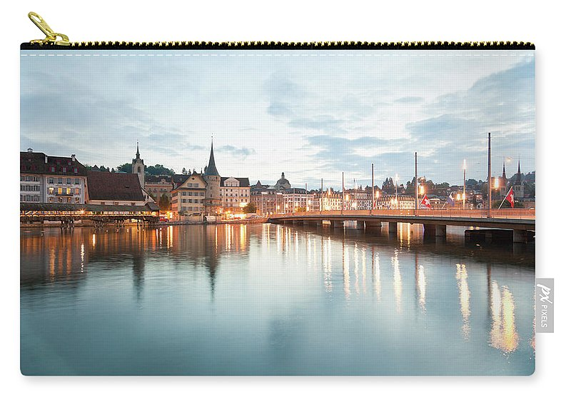 Dawn Carry-all Pouch featuring the photograph Switzerland, Lucerne, View Of by Westend61