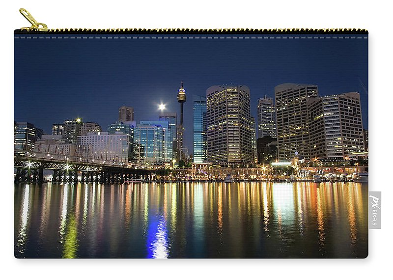Scenics Carry-all Pouch featuring the photograph Sydney Darling Harbour Twilight by Matejay