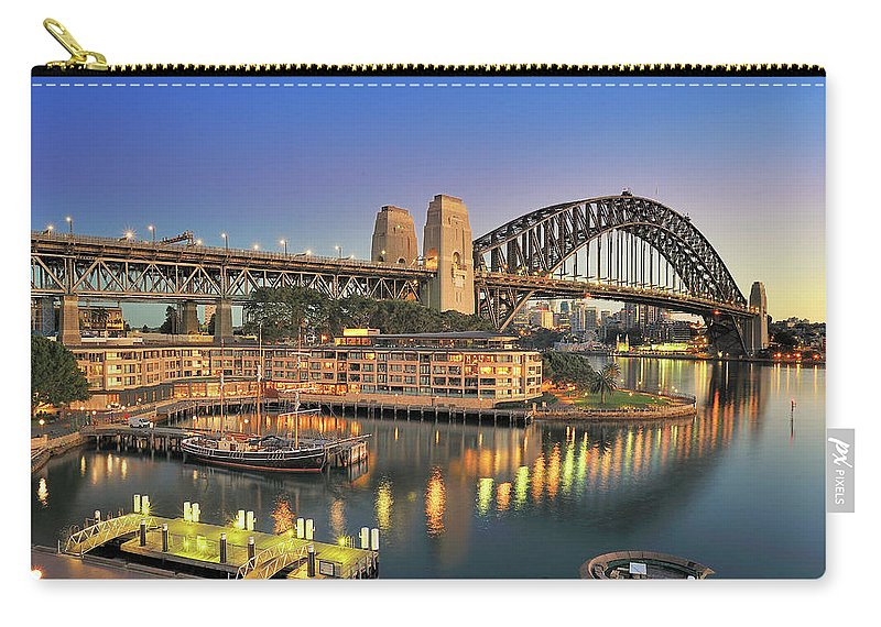 Built Structure Carry-all Pouch featuring the photograph Sydney Harbour Bridge by Warwick Kent