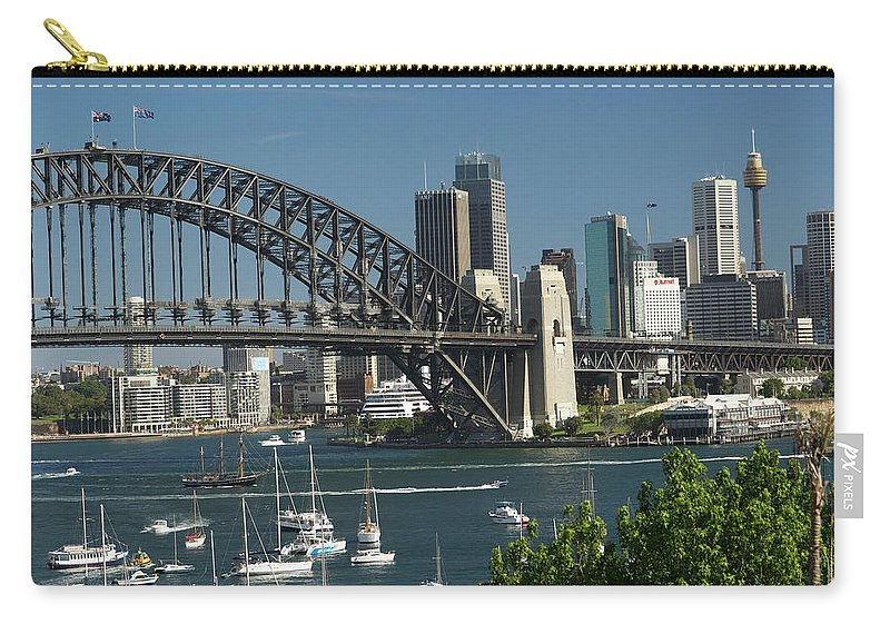 Sydney Harbor Bridge Carry-all Pouch featuring the photograph Sydney Harbour, New South Wales by Robin Smith