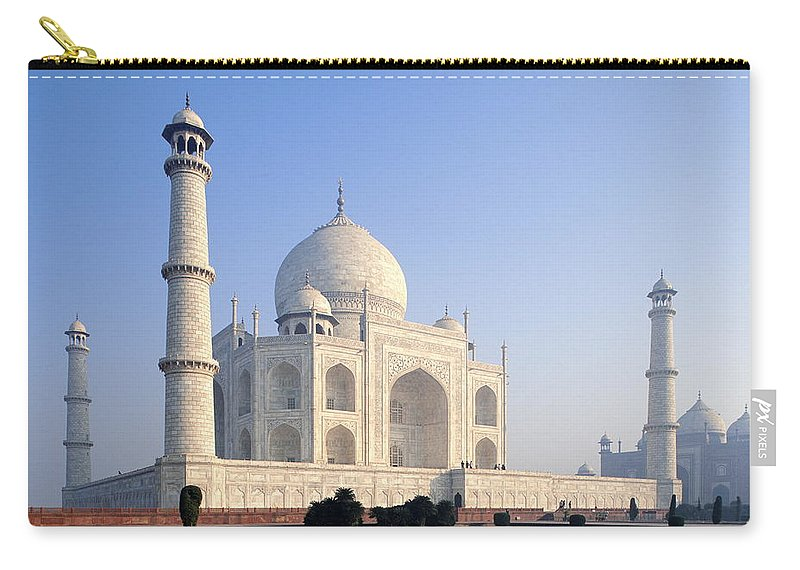 Scenics Carry-all Pouch featuring the photograph Taj Mahal, Agra, Uttar Pradesh, India by Frans Lemmens