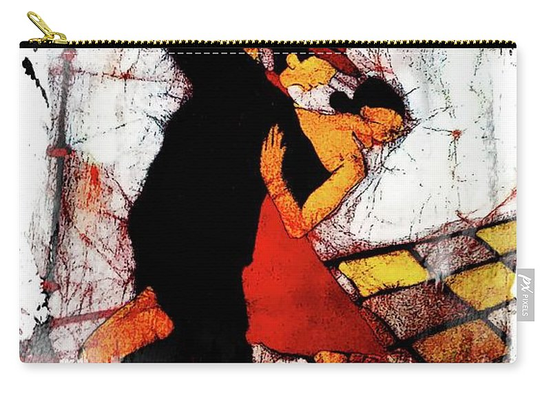 South America Carry-all Pouch featuring the digital art Tango Time In Buenos Aires 2 by Joseph Hendrix