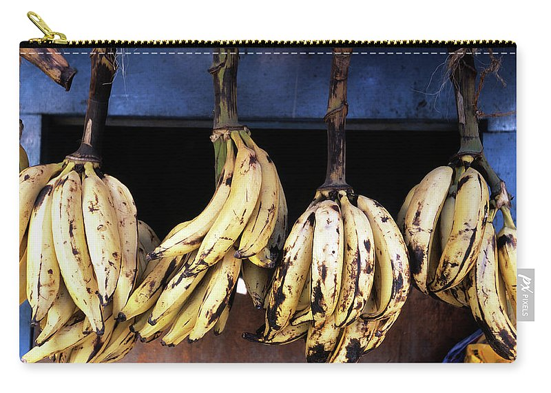 Hanging Carry-all Pouch featuring the photograph Tanzania, Zanzibar, Bananas For Sale In by John Seaton Callahan
