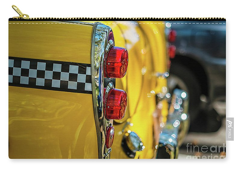 Outdoors Carry-all Pouch featuring the photograph Taxi Tail Light, New York City, New by Kai Sarton