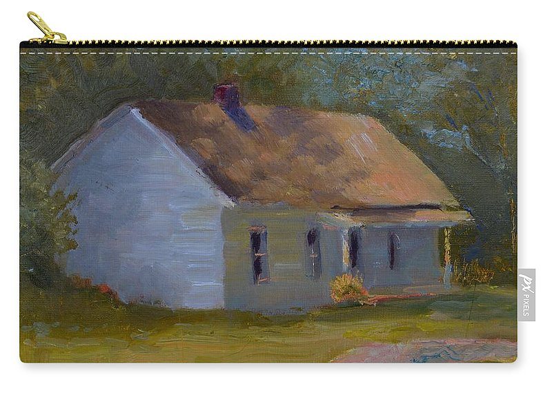 Kentucky Carry-all Pouch featuring the painting Tay's Cottage by Roger Snell