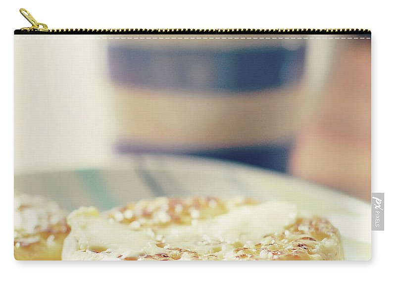 Healthy Eating Carry-all Pouch featuring the photograph Tea And Crumpets by Deborah Slater